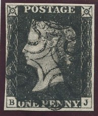 Penny Black, the Raffle Item for the 2017 Southeastern Stamp Expo